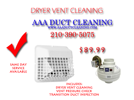Dryerventcleaningestimate.com-Looking for dryer vent cleaning or dryer duct cleaning San Antonio?  Look no farther Dryerventcleaningestimate.com provides local San Antonio dryer vent cleaning companies and contractors that will provide free estimates for your clogged dryer vent duct. Dryer vent cleaning contractors-company such as AAA Duct Cleaning- Call 210-390-5075 to contact AAA Duct Cleaning to get a free over the phone dryer duct cleaning estimate today San Antonio.